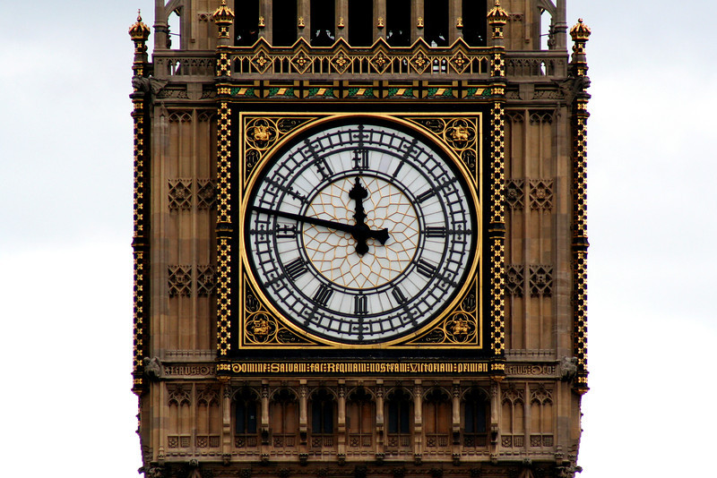 Palace of Westminster: Queen Elizabeth Tower clockface (Big Ben). And yes, I am aware  that Big Ben is a bell, not the entire clock.