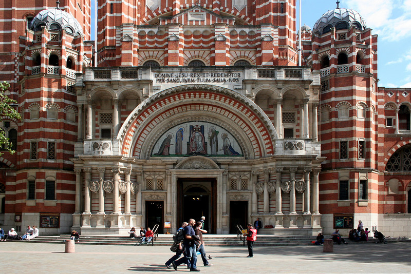 Westminster Cathedral: main entrance portal.