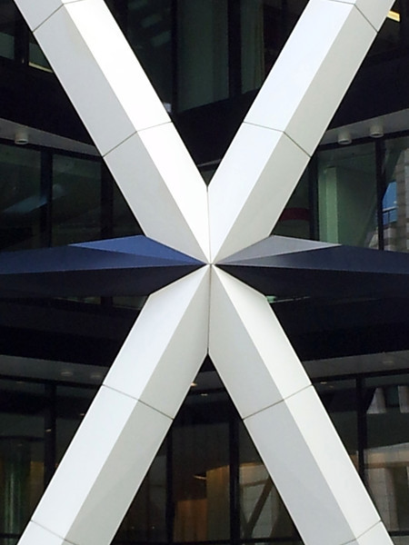 Detail of 30 St Mary Axe (the Gherkin).