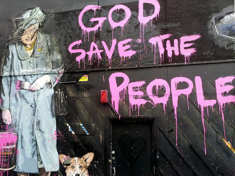Oxford Street graffiti art.
