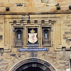 Above the entrance into Edinburgh Castle.
