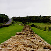 Hadrian's Wall somewhere in Northern England.