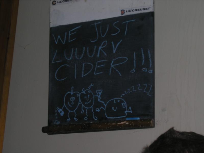 We lurrrv cider