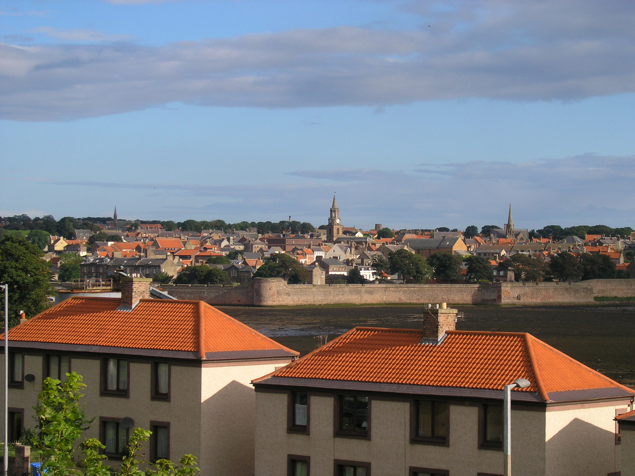 View of Berwick Upon-Tweed from Campsite