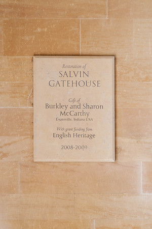 Salvin Gatehouse. Restored 2008-2009. It is used as a guest cottage for vacationing families or professors on sabatical.