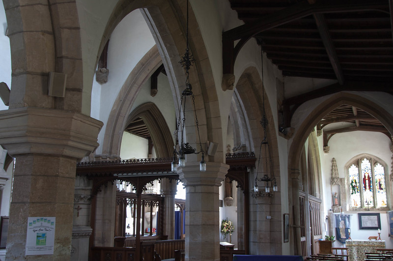 Looking into the sanctuary from the entrance.