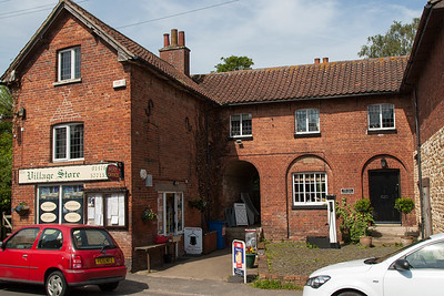 Harlaxton Village store and Post Office.