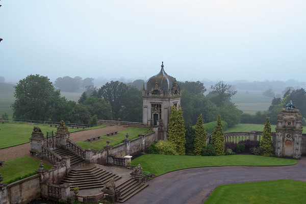 View from our room at Harlaxton Manor on the day we left.