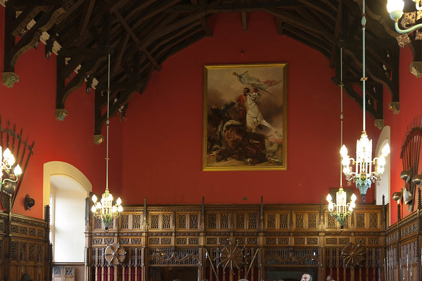 Great Hall: 1503-13 Built for King James IV (1488-1513) as a majestic setting for ceremonial occasions. Converted in 1650 into a soldiers' barracks by Oliver Cromwell. Restored in 1887 and used today for state and royal functions.