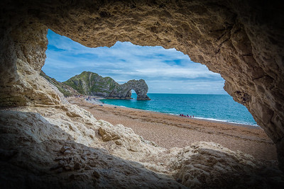 Durdle Door from a cave