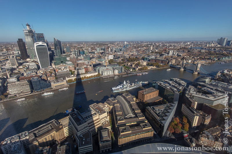 20 Fenchurch, HMS Belfast, Tower of London and Tower Bridge