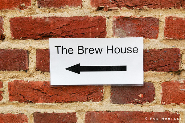 Brew House sign on a brick wall in Guildford in the United Kingdom. © Rob Huntley
