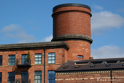 Old industrial building near the Royal Armouries Museum in Leeds, UK. They are apparently converted to condominiums or apartments. © Rob Huntley