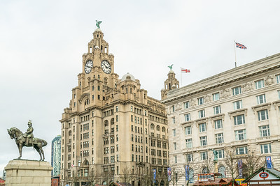 Royal Liver Building, Liverpool, Merseyside. December 2018