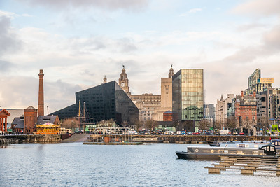 Albert Dock Views, Liverpool Merseyside December 2018
