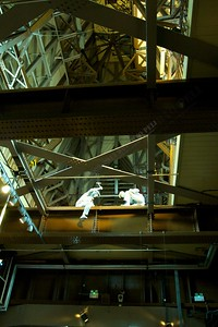 At work inside the tower bridge
