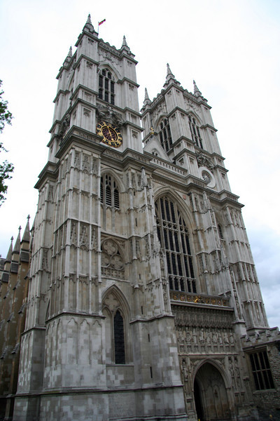 Another view of Westminster Abbey. Anybody who's somebody in England is buried here.