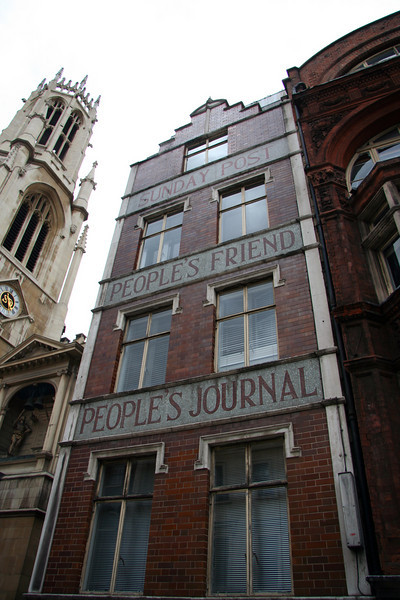 The Sunday Post building on Fleet Street.