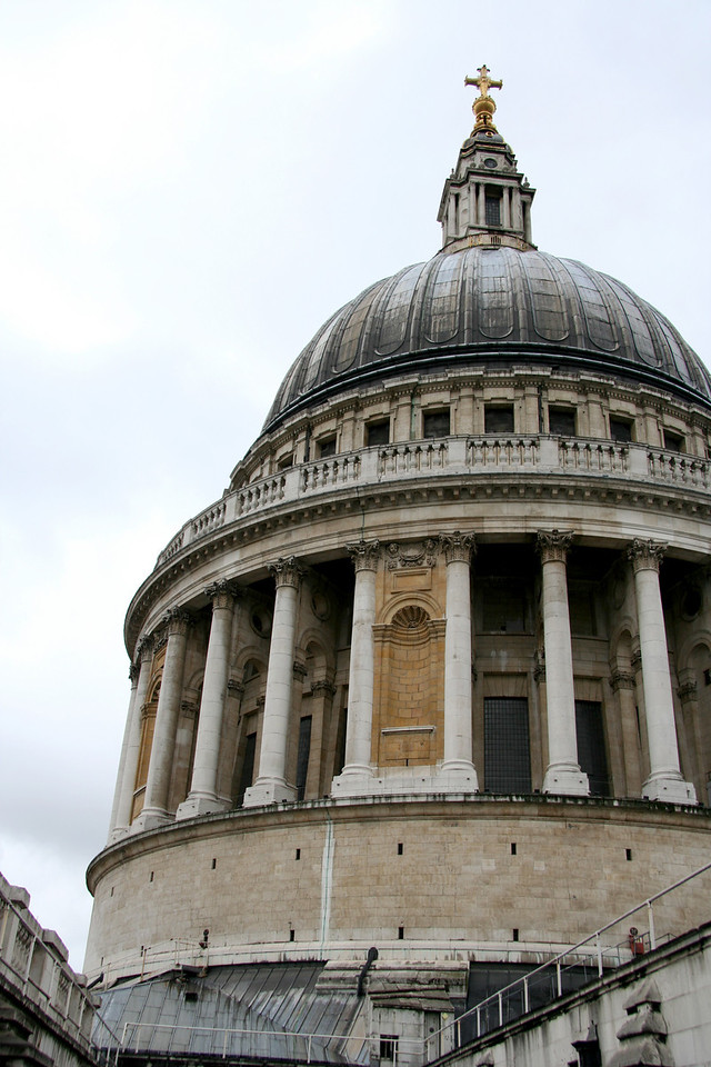 Dome of St. Paul's cathedral. William Blake is buried here, which made my nerdy English major self very excited.