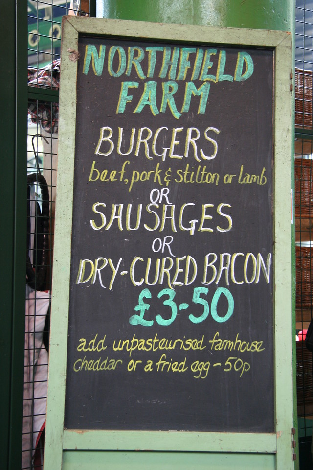 Signs at Borough Market.