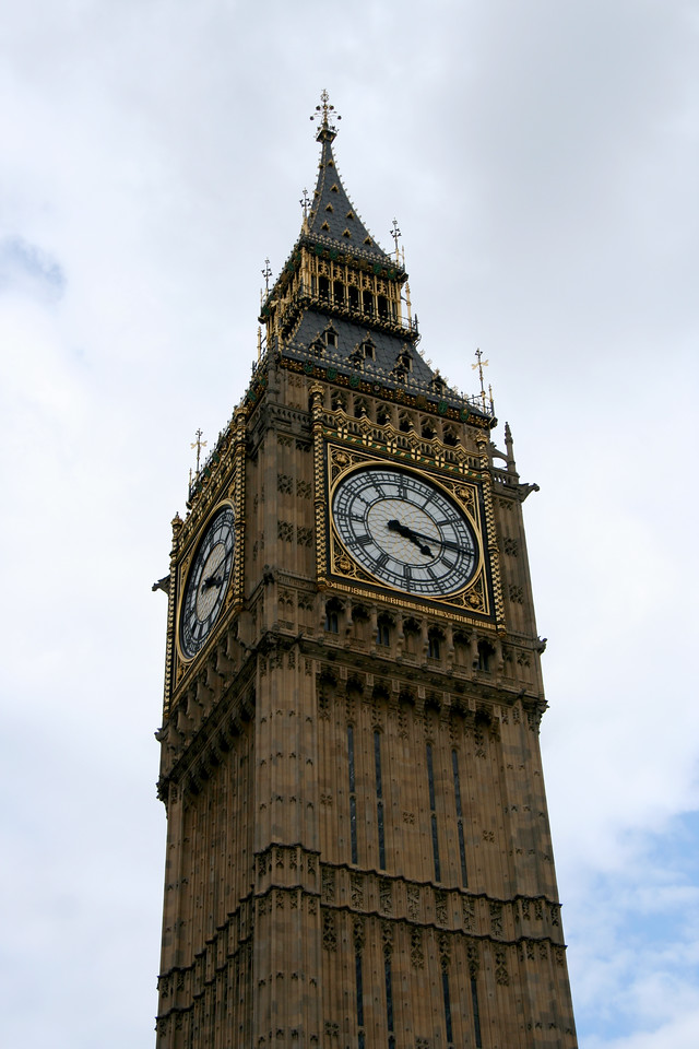 Big Ben (or what I could shoot of it as the bus whizzed by).