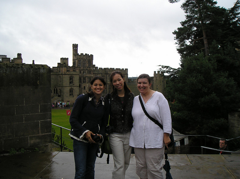 Me, AJ, Judy at Warwick Castle.