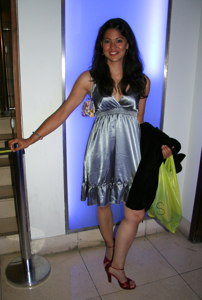 Me at Daanish & Nadia's reception. Silver dress from Berlin! And I loved the red shoes, ok?