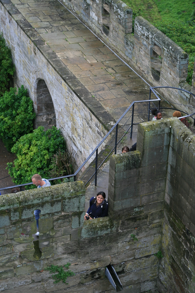 Me way down low at Warwick Castle.