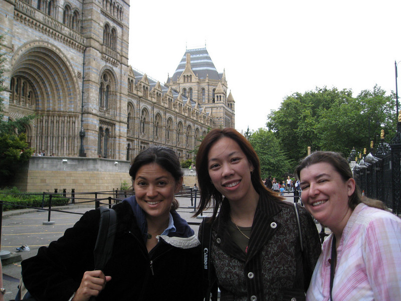 In front of the Natural History Museum. Yes, we'll readily admit we went here because it was free.