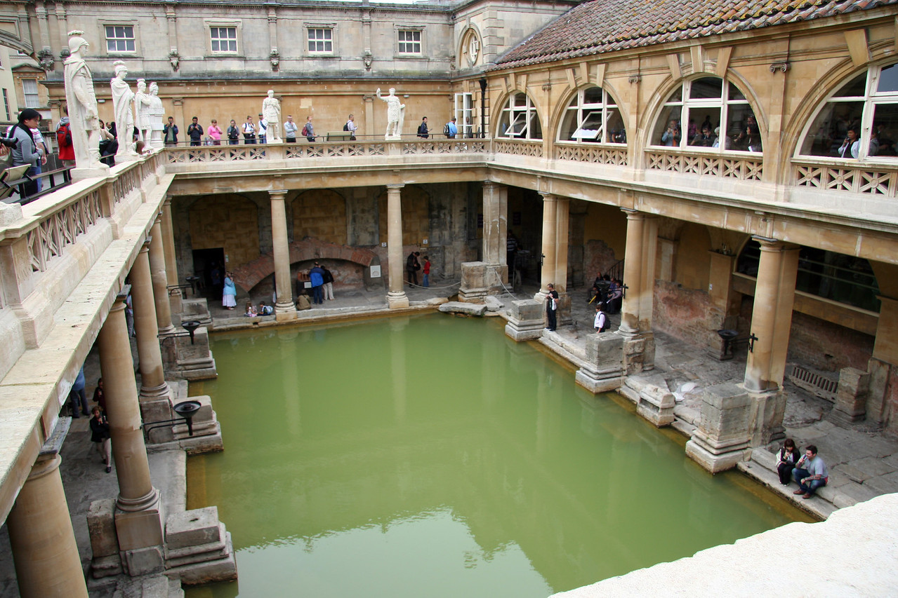 The Roman Baths. The water is disgustingly filthy now, but during Roman times this was evidently a lovely natural spa.