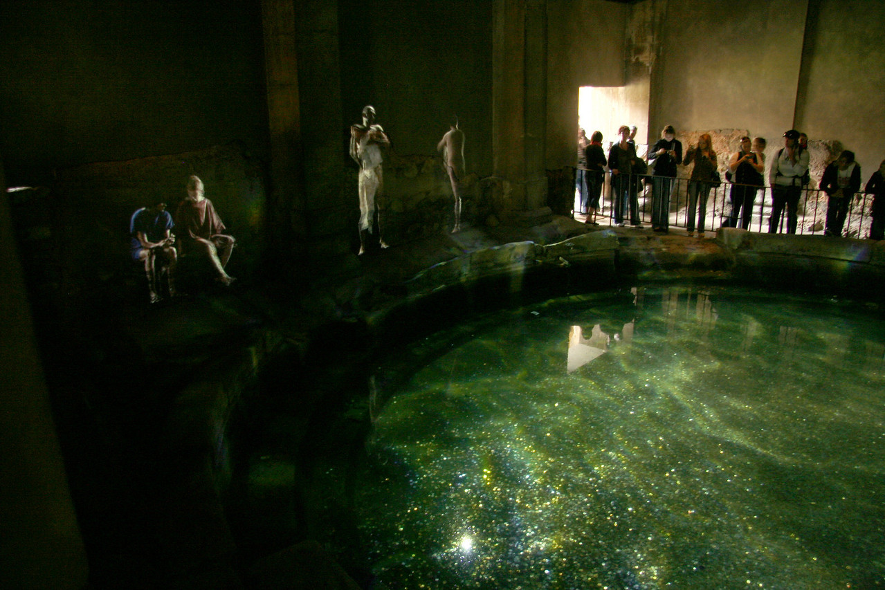 This dark pool had Roman characters projected on the walls, acting out scenes in the bath. The number of people trying to photograph this with their flash on was truly hilarious.