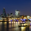 City of London after dusk