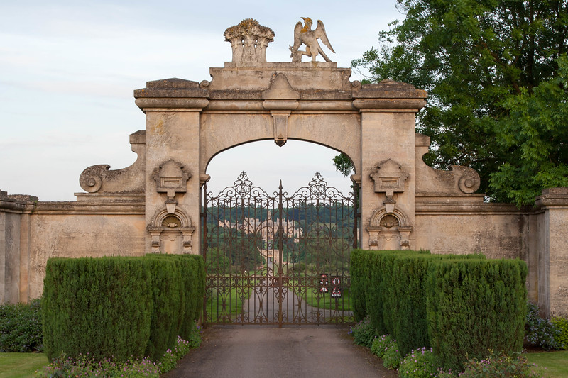 Main gate on High St. in Harlaxton ~0.83 mi. from the manor.