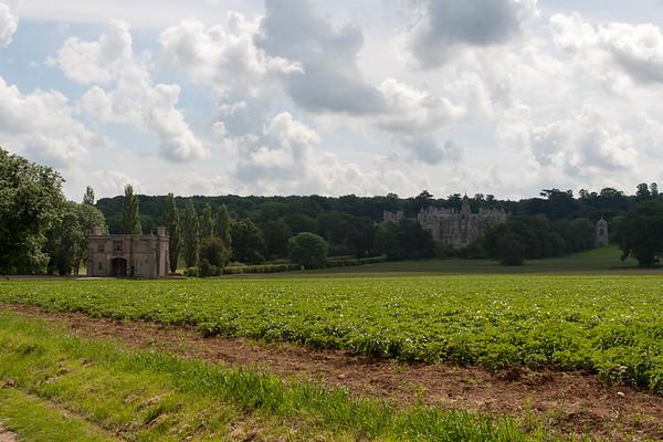 Harlaxton Manor viewed from Manor Lane