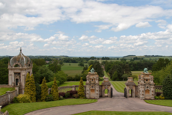View from our room at Harlaxton Manor.