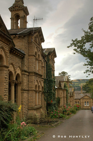 Typical street scene with housing in heritage buildings in the town of Saltaire, England, near Leeds. HDR - high dynamic range image. © Rob Huntley Not for sale on this website but you may License this photo on Getty Images