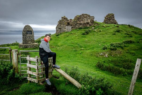 Andrew at Duntulm Castle, Isle of Skye