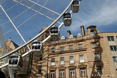 The Wheel of Sheffield in downtown Sheffield, Yorkshire, England.  © Rob Huntley