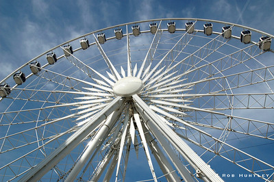 The Wheel of Sheffield in downtown Sheffield, Yorkshire, England.