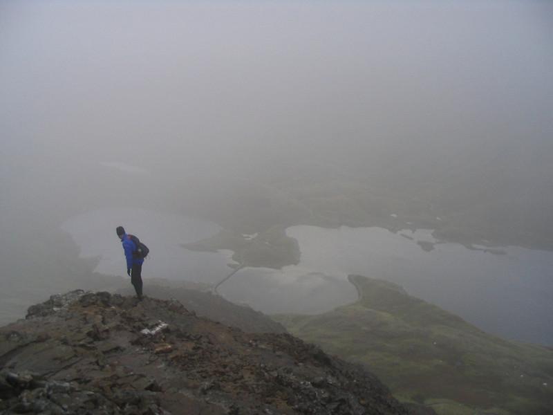 Lake on the way down