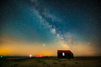 The Milky Way over The Black Hut. Rye Harbour. Sussex