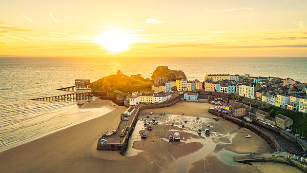 Tenby Harbour at Sunrise