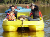 George, Milly & Mirranda, boaters beware the peddle boats at Center Parcs are made out of surplus WWII landing craft, thirty minutes of peddling and your legs are done for!