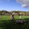 The modern stone circle was built in 1948 to proclaim the National Eisteddfod of Wales