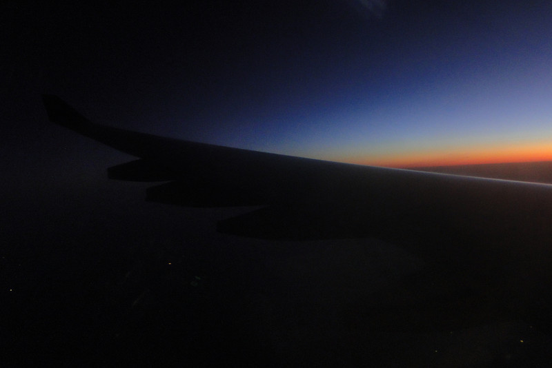 Flying over Blackpool England at 6:00am! About 15 miles in a straight line from our destination but we had to fly on to Amsterdam, wait for a flight back to Manchester then take a train to Carnforth. We finally got there 7 hours later!