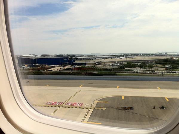 Landing at JFK.