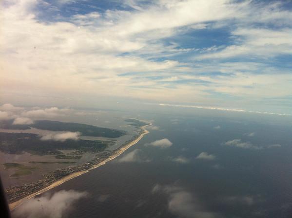 The coast near New York City.
