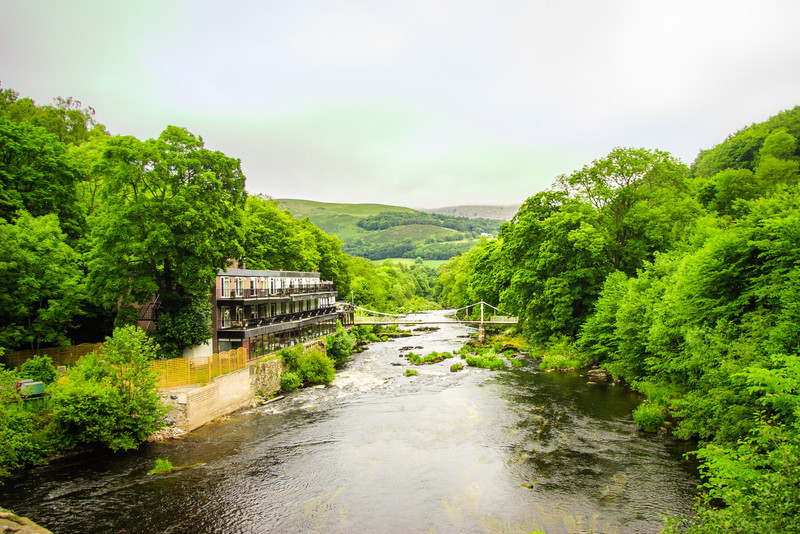 Chain Bridge, Llangollen, Wales