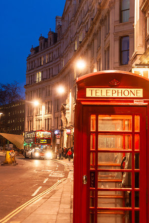 Traditional London Telephone Box