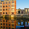 """Avon river, Bath old factory reflected in morning calm. A view of the UK SEE ALSO:   <a href=""""http://www.blurb.com/b/893070-impressions-of-the-uk"""">http://www.blurb.com/b/893070-impressions-of-the-uk</a>"""